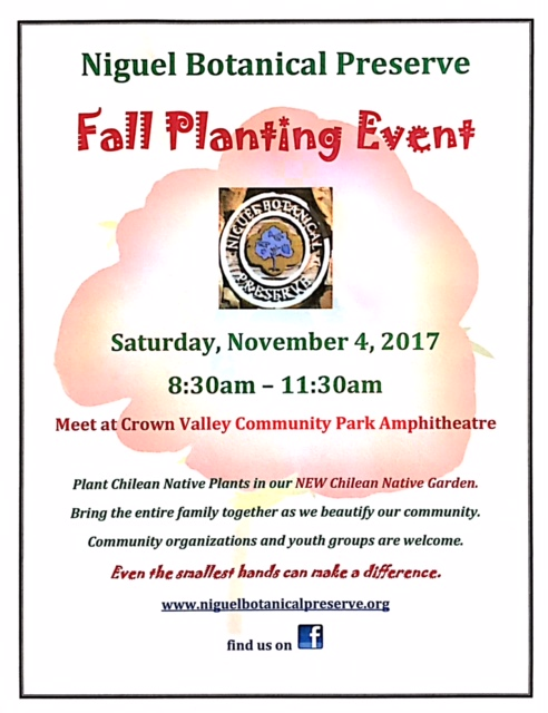 Fall Planting Event 2017